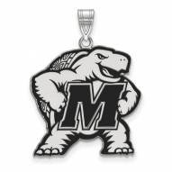 Maryland Terrapins Sterling Silver Extra Large Enameled Pendant