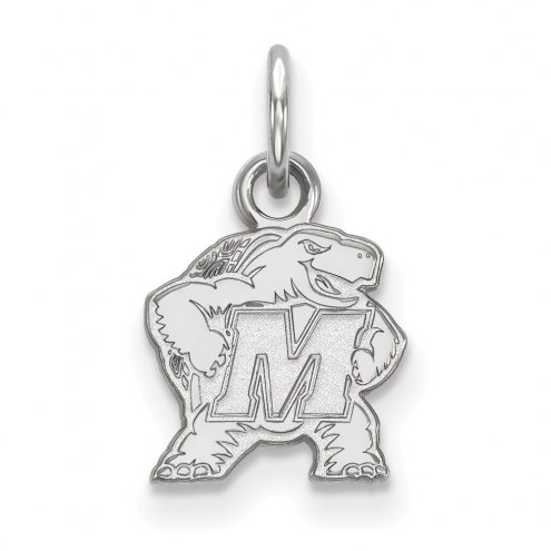 Maryland Terrapins Sterling Silver Extra Small Pendant