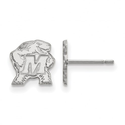Maryland Terrapins Sterling Silver Extra Small Post Earrings