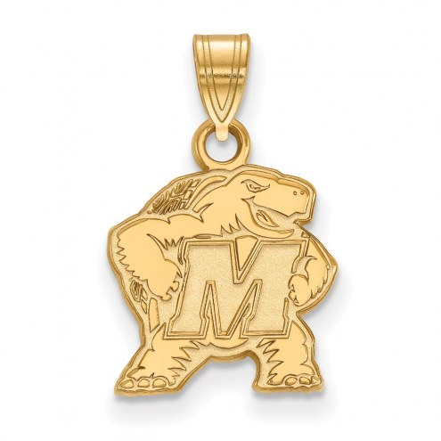 Maryland Terrapins Sterling Silver Gold Plated Small Pendant