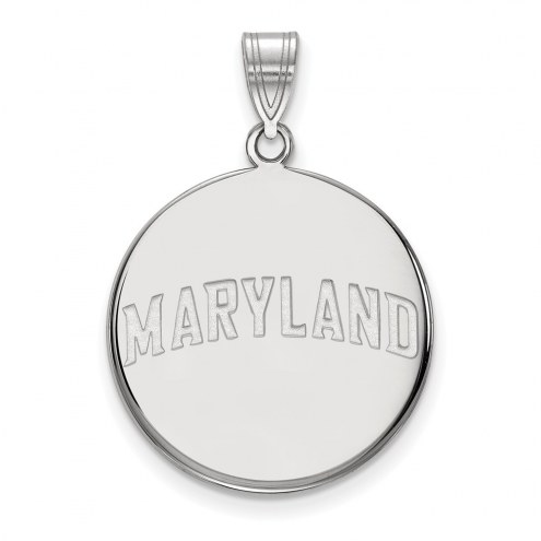 Maryland Terrapins Sterling Silver Large Disc Pendant