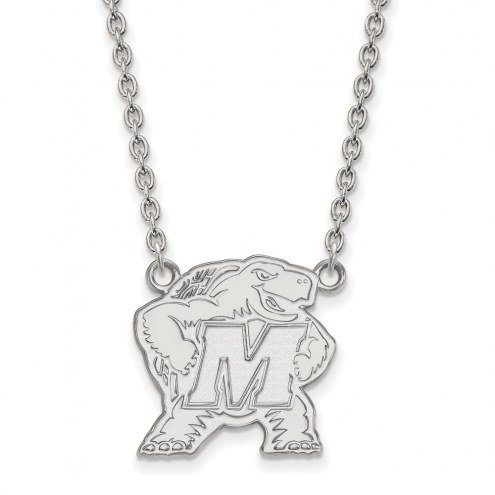 Maryland Terrapins Sterling Silver Large Pendant Necklace