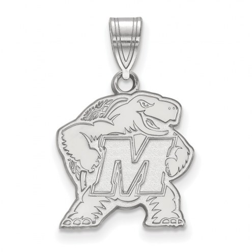 Maryland Terrapins Sterling Silver Medium Pendant