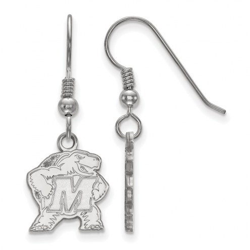 Maryland Terrapins Sterling Silver Small Dangle Earrings