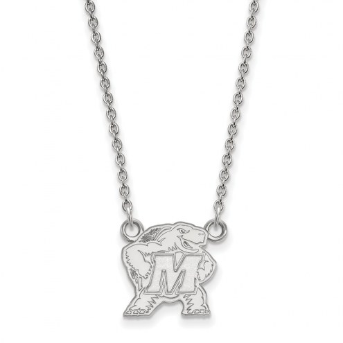 Maryland Terrapins Sterling Silver Small Pendant Necklace