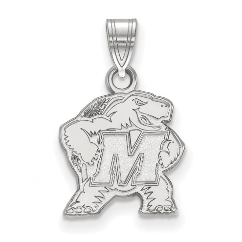 Maryland Terrapins Sterling Silver Small Pendant