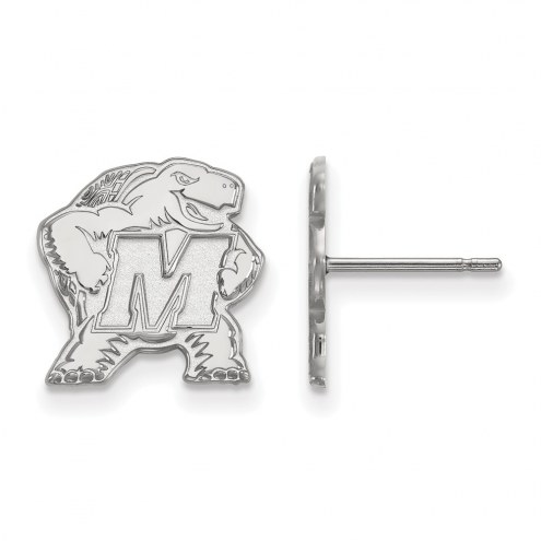 Maryland Terrapins Sterling Silver Small Post Earrings