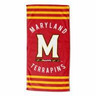 Maryland Terrapins Stripes Beach Towel