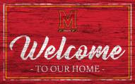 Maryland Terrapins Team Color Welcome Sign