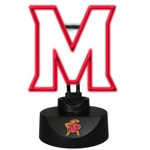 Maryland Terrapins Team Logo Neon Lamp