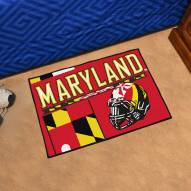 Maryland Terrapins Uniform Inspired Starter Rug
