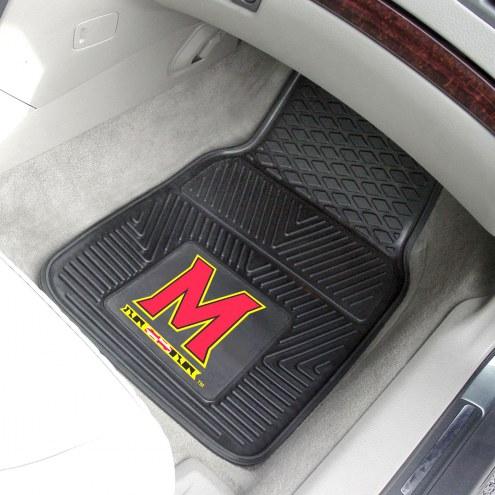 Maryland Terrapins Vinyl 2-Piece Car Floor Mats