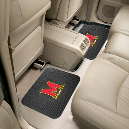 Maryland Terrapins Vinyl 2-Piece Rear Floor Mats