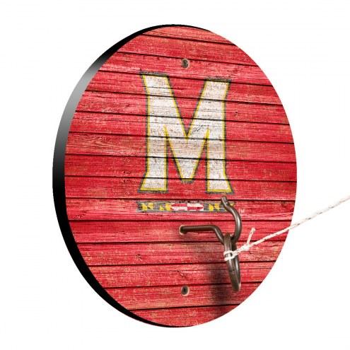 Maryland Terrapins Weathered Design Hook & Ring Game