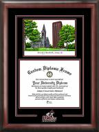Massachusetts Minutemen Spirit Diploma Frame with Campus Image
