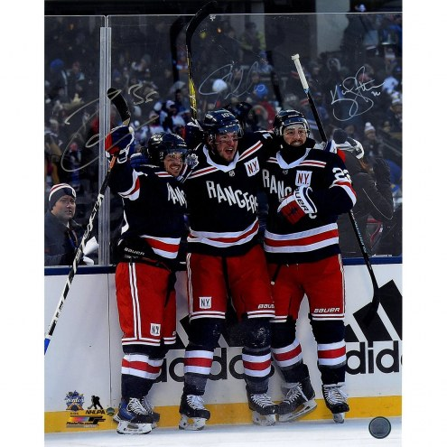 Mats Zuccarello/JT Miller/Kevin Shattenkirk Triple Signed '2018 Winter Classic Celebration' 16x20 Photo