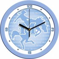 McNeese State Cowboys Baby Blue Wall Clock