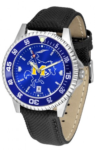 McNeese State Cowboys Competitor AnoChrome Men's Watch - Color Bezel