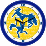 McNeese State Cowboys Dimension Wall Clock