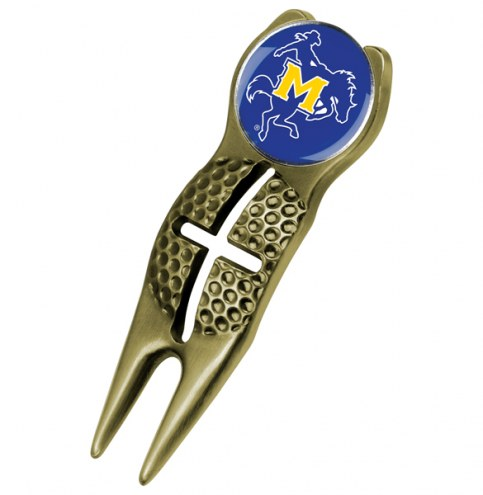McNeese State Cowboys Gold Crosshairs Divot Tool