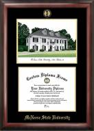 McNeese State Cowboys Gold Embossed Diploma Frame with Campus Images Lithograph