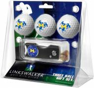 McNeese State Cowboys Golf Ball Gift Pack with Spring Action Divot Tool