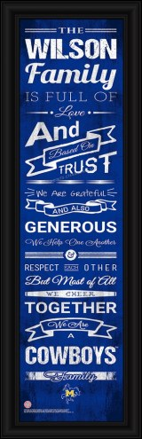 McNeese State Cowboys Personalized Family Cheer Framed Art