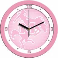 McNeese State Cowboys Pink Wall Clock