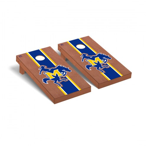 McNeese State Cowboys Rosewood Stained Cornhole Game Set