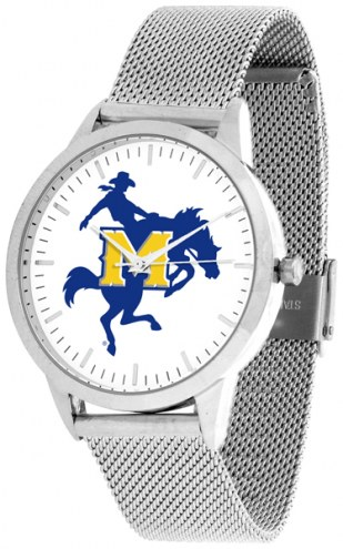 McNeese State Cowboys Silver Mesh Statement Watch
