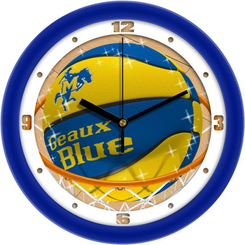 McNeese State Cowboys Slam Dunk Wall Clock