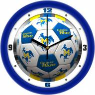 McNeese State Cowboys Soccer Wall Clock