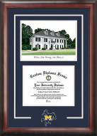 McNeese State Cowboys Spirit Diploma Frame with Campus Image
