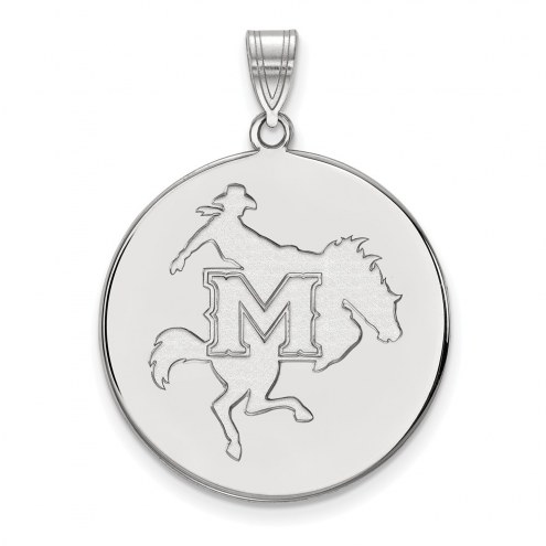 McNeese State Cowboys Sterling Silver Extra Large Disc Pendant