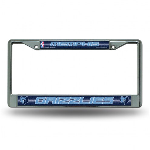 Memphis Grizzlies Chrome Glitter License Plate Frame