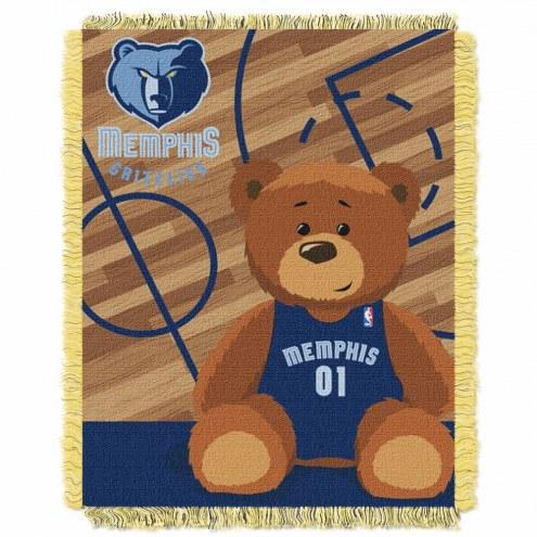Memphis Grizzlies Half Court Baby Blanket