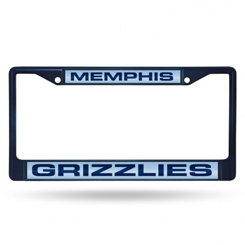 Memphis Grizzlies Laser Colored Chrome License Plate Frame
