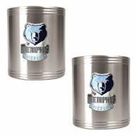 Memphis Grizzlies NBA Stainless Steel Can Holder 2-Piece Set