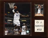 "Memphis Grizzlies O.J. Mayo 12"" x 15"" Player Plaque"