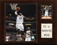 "Memphis Grizzlies O.J. Mayo 12"" x 15"" Player Plaque"