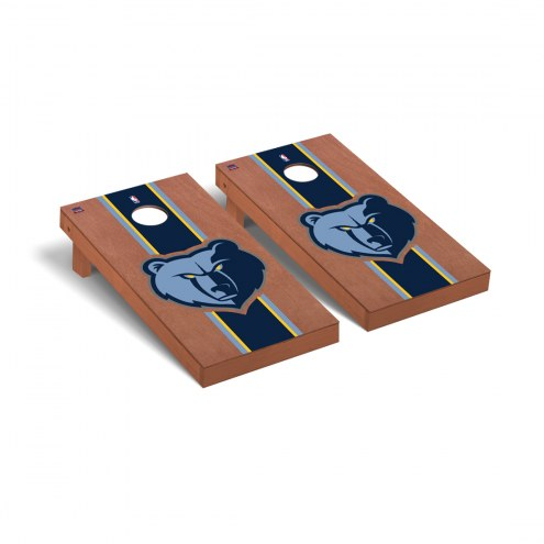 Memphis Grizzlies Rosewood Stained Cornhole Game Set