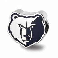 Memphis Grizzlies Sterling Silver Enameled Bead