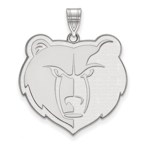 Memphis Grizzlies Sterling Silver Extra Large Pendant