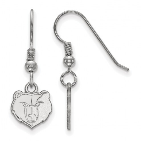 Memphis Grizzlies Sterling Silver Extra Small Wire Dangle Earrings