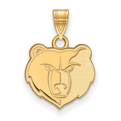 Memphis Grizzlies Sterling Silver Gold Plated Small Pendant