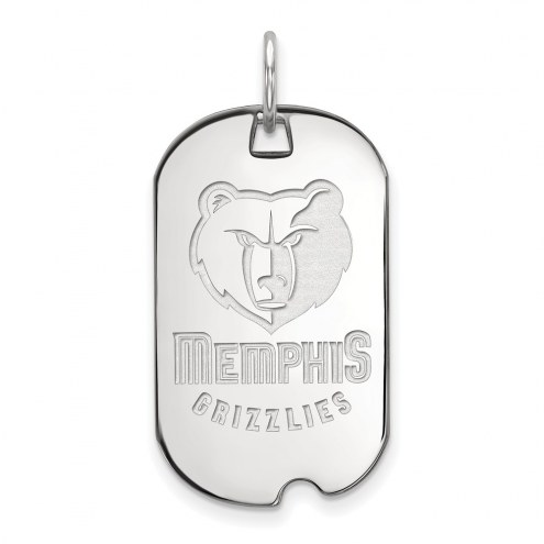 Memphis Grizzlies Sterling Silver Small Dog Tag
