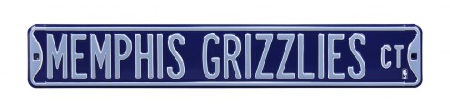 Memphis Grizzlies Street Sign