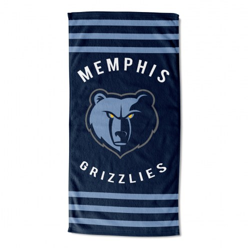 Memphis Grizzlies Stripes Beach Towel