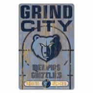 Memphis Grizzlies Slogan Wood Sign