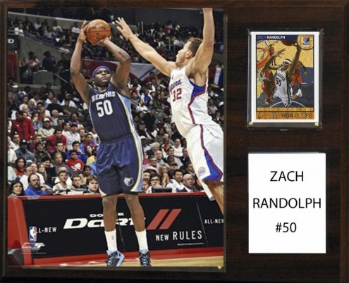 "Memphis Grizzlies Zach Randolph 12"" x 15"" Player Plaque"